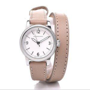 Burberry 'Utilitarian' Leather Wrap Watch